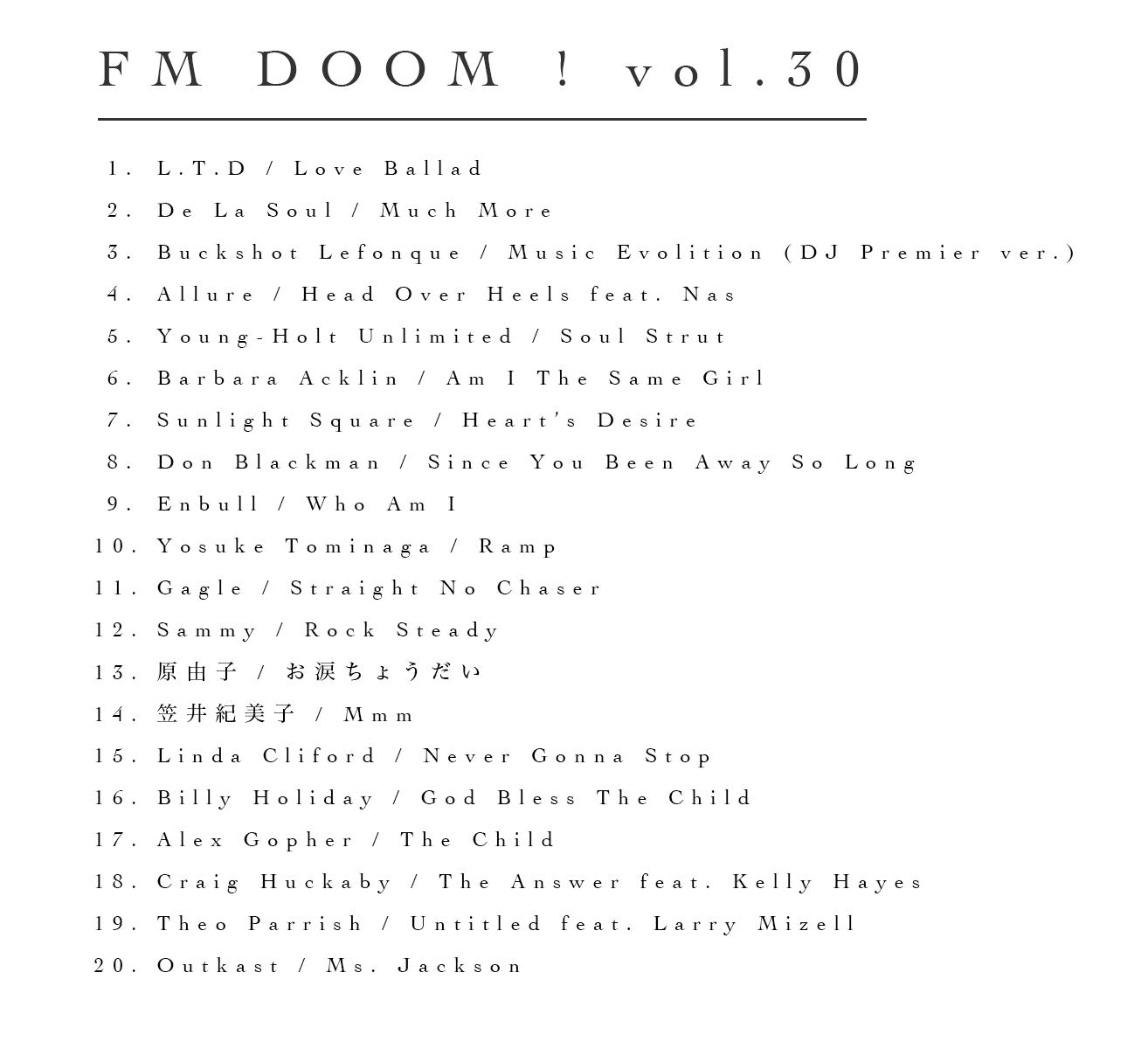 FM DOOM ! vol.30